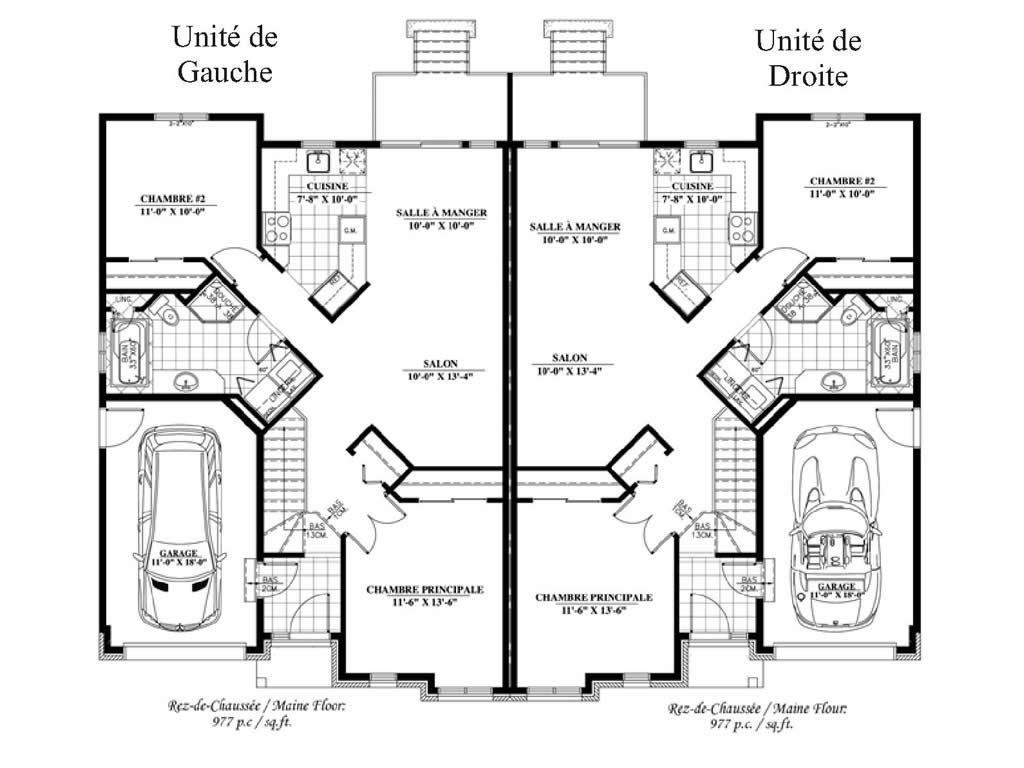 Exemple plan maison jumel e - Exemple de plan de garage ...